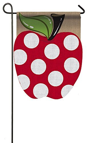 Burlap Apple Garden Flag
