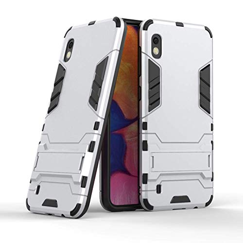- Case for Galaxy A10 DWaybox 2 in 1 Hybrid Heavy Duty Armor Hard Back Case Cover with Kickstand Compatible with Samsung Galaxy A10 SM-A105 6.2 Inch (Silver)