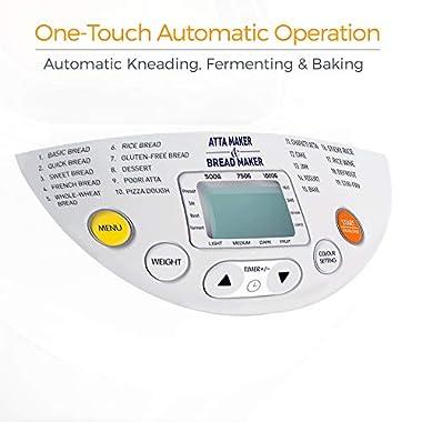 KENT - 16010 Atta and Bread Maker 550-Watt (Steel Grey) 12