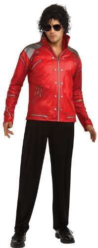 Beat It Michael Jackson Costume (Michael Jackson Adult Costume Red & Silver Beat It Jacket - Large)