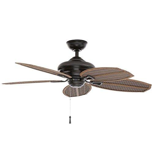 Hampton Bay Palm Beach Ii 48 In. Outdoor Natural Iron Ceiling Fan 191410 by King of Fans (Beach Palm Hampton Bay)