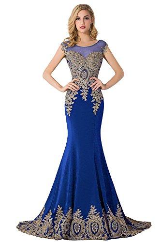 - MisShow Women's Rhinestone Sweetheart Evening Gowns Sleeveless Royal Blue US10