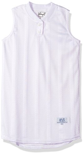 Intensity Girl's Girls Diamond Mesh Sleeveless Softball Top, White, Small ()