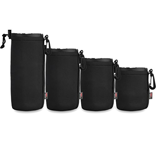 Ritz Gear™ Neoprene Protective Pouch Kit for DSLR Camera Lenses (Small, Medium, Large, (Large Camera Pouch)