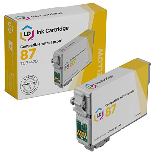 LD Products Remanufactured Ink Cartridge Replacement for Epson T087 ( Yellow ()