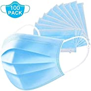 Dukal DUK 900610 Reflections Spa Face Mask, Earloop, Pleated, Blue, 3-Ply (Pack of 100)