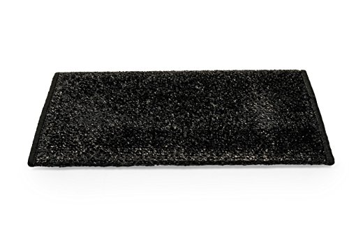Camco 42915 Black Premium Wrap Around RV Step Rug (Turf Material (17.5