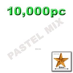 The Crafts Outlet 10000-Piece Star Rhinestones, 6mm, Pastel Assortment