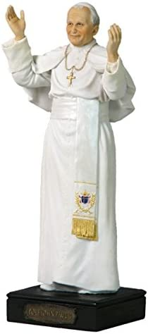 10 75 Inch Papa Juan Pablo Ii Religiosa Figura Decorativa Color Blanco Y Nude Color Home Kitchen