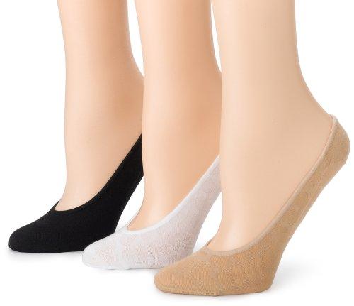 Ozone Design Women's 3-Pack No Show Sock