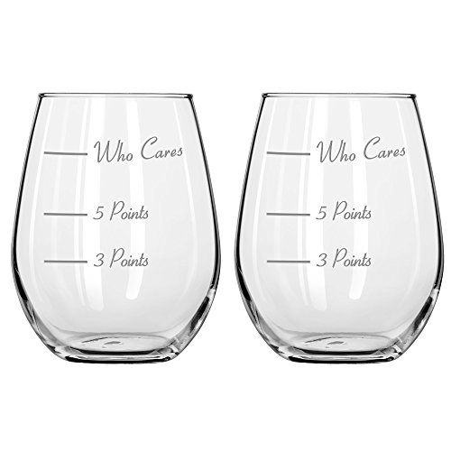 The Points Glass Wine Glass by Caloric Cuvee (Set of 2) Now in Stemless