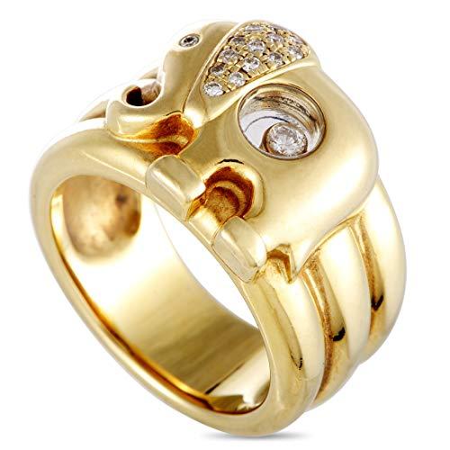 Chopard(Est) Chopard Happy Diamonds 18K Yellow Gold and Diamond Elephant Band Ring