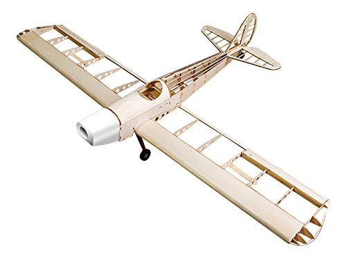 Jamara 6147 006147-Space Walker 1200 mm CNC Lasercut Kit-Fuselage Made of balsa and Plywood, 4 Channel, Electric Drive Aircraft, Wood
