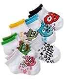 Yo Gabba Gabba Mini Crew 6 Pair Socks 2T - 4T, White, Small