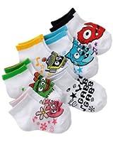 Yo Gabba Gabba Mini Crew 6 Pair Socks 2T - 4T