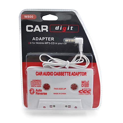 Travel Cassette Adapter for Cars - Listen to iPods, Smartphones, MP3 Players or a Walkman in a Standard Vehicle Cassette Player - Vintage/Retro Music ()