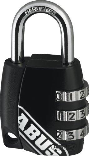 Abus 535178 155/30 Zahlen-Vorhangschloss mit verstellbarem Code, schwarz