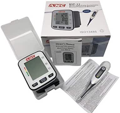 ANC Fully Automatic Wrist Blood Pressure Cuff Monitor ● Bonus Digital Thermometer Included