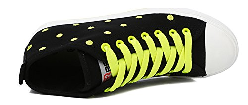 Aisun Womens Sweet Hign Top Dots Scarpe Sneakers Nere