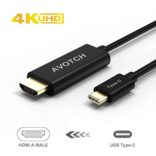 USB C to HDMI Cable,AVOTCH USB 3.1 Type C to HDMI Cable Thunderbolt 3 Compatible 4K 6FT with Aluminium Case for 2016 MacBook Pro, 2015 MacBook by AVOTCH (Image #4)