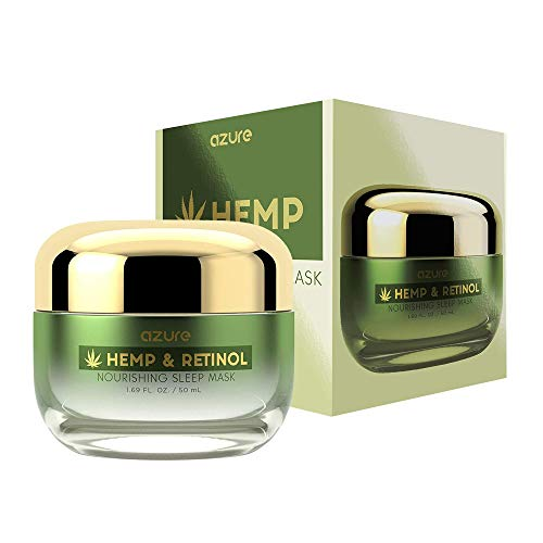 AZURE Hemp & Retinol Nourishing Sleep Mask – Anti Aging, Hydrating & Regenerating | Reduces Appearance of Creases…