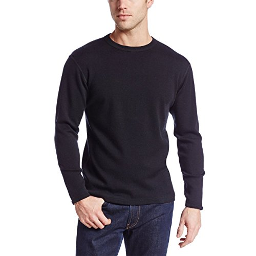 Minus33 100% Merino Wool Base Layer 707 Expedition Weight Crew Neck Top Black X-LARGE