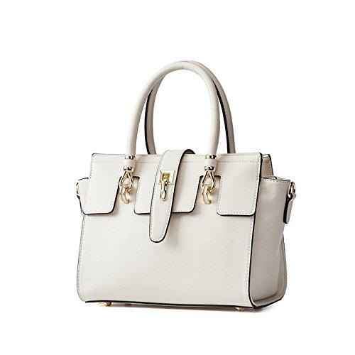 Tisdaini Mujer bolso de mano moda casual bolso bandolera bolsas de marca Blanco