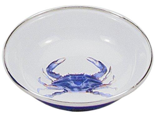 Enamelware - Blue Crab Pattern - 4 oz Tasting Dish - 4.25 Inch Diameter ()