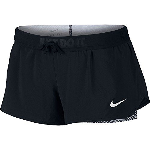 Nike Full Flex Women's 2-In-1 Running Shorts - X Large - Black