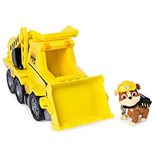 Paw Patrol Rubble's Ultimate Rescue Bulldozer with Moving Scoop and Lift-up Dump Bed, Ages 3 and Up
