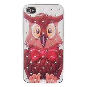 conseguir Large Owl Pattern Zircon de nuevo caso para el iPhone 4/4S