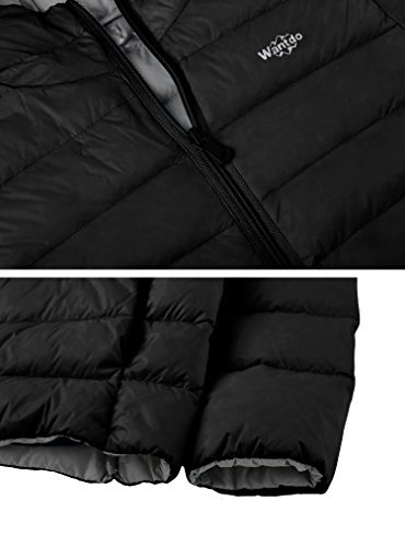 Down Boy's Black Wantdo Lightweight Packable Puffer Jacket Hood with wqw1zp