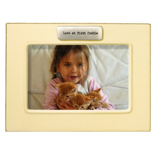 Grasslands Road Everyday Life Love at First Cuddle Antique White Ceramic Frame, 4 by 6-Inch