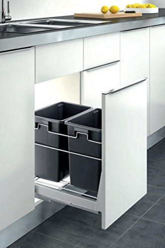 Inside Cabinet Pull-Out Kitchen Duble Waste Container Door Mounted Trash