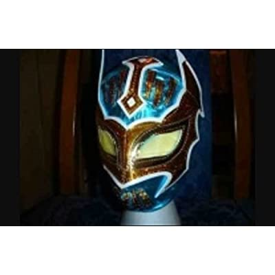 SOPHZZZZ TOY SHOP Wrestling Mask Sin Cara WWE Fancy Dress Up Costume Mexican Childrens Kids Child Outfit Suit Blue: Clothing