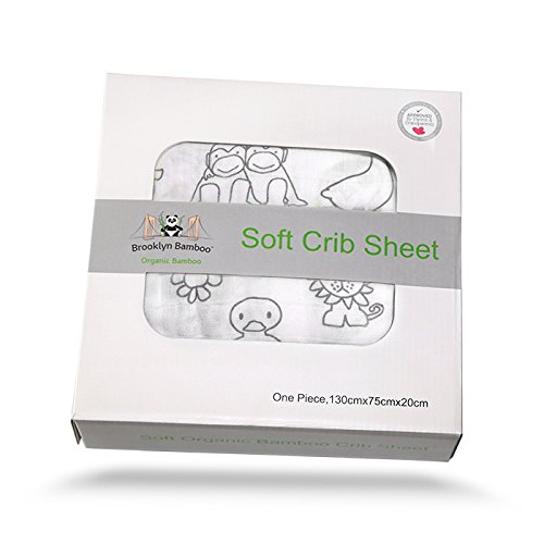 Anais Bamboo Crib Sheet (Brooklyn Bamboo Soft Hypoallergenic Organic Bamboo Crib Sheet, Animal Print)