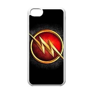 EL FLASH (2) funda del funda iPhone 5 quater del teléfono celular de cubierta blanca, casos 5c funda iPhone Funda blanco