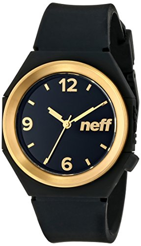 neff Stripe Watch (Model: NF0225)Black and Gold ()