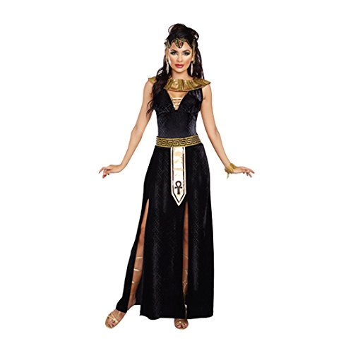 Dreamgirl Women's Exquisite Cleopatra Costume, Black/Gold, Small - Cleopatra Halloween Costume