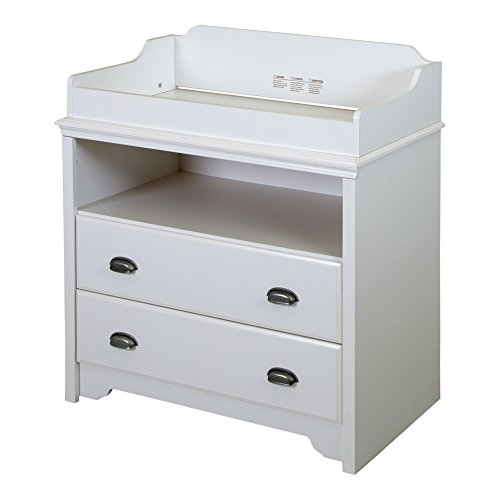 South Shore Fundy Tide Changing Table, Pure White - Changing Station Top
