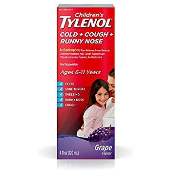 (Tylenol Children's Cold + Cough + Sore Throat Oral Suspension Bubble Gum - 4 oz)