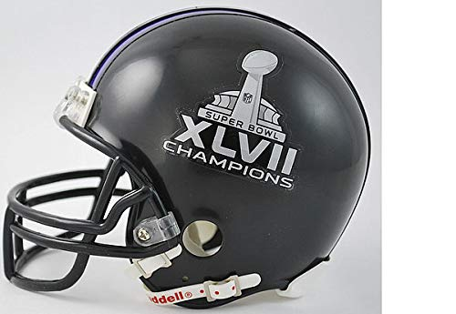 Riddell Mini Champs Helmet (NFL Baltimore Ravens SB47 Champs Riddell Mini Replica Football Helmet)