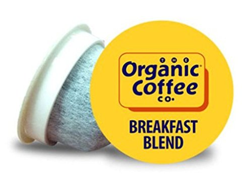Organic Coffee Co. OneCup Breakfast Blend (36 Count) Single Serve Coffee Compatible with Keurig K-cup Brewers Single Serve Coffee Pods, Compatible with Cuisinart, Bunn, iCoffee single serve brewers by THE ORGANIC COFFEE CO. (Image #1)