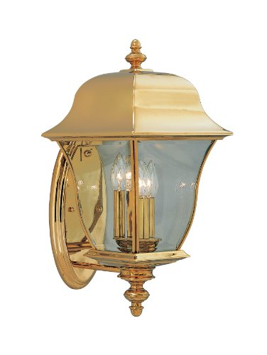 Designers Fountain 1552-PVD-PB Gladiator Wall Lanterns, Brass Treated Polish by Designers Fountain