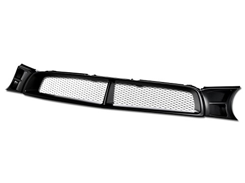 R&L Racing Front Grill Compatible with Subaru Impreza WRX 02-03 | Matte Black Aluminum Mesh Style Grille Cover