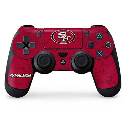 NFL San Francisco 49ers Distressed Skin for Sony PlayStation 4/ PS4 Dual Shock4 - San Francisco Shop Ski