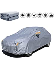 Special Car Cover for Mercedes-Benz, PEVA Waterproof Auto Exterior Covers Sun and UV Protection Outdoor All Weather Full Cover with Reflective Strip & Zipper