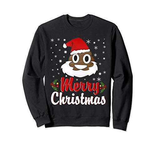 Poop Emoji Merry Christmas Funny Costume X-Mas Gift Idea Sweatshirt (Emoji Merry Christmas)