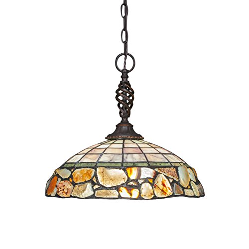 Toltec Lighting 82-DG-973 Eleganté Pendant with 16