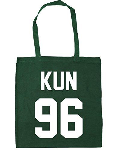 HippoWarehouse kun 96(impreso en el) bolsa de la compra bolsa de playa negro 42cm x38cm, 10litros verde oscuro